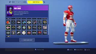 FORTNITE ALL NEW NFL SKINS