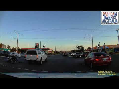 Driver fails to give way and collides with Police Motorcycle - Adelaide