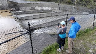 Lexington Reservior spillway used as rains push beyond averages