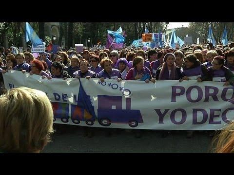 Une marée violette pour défendre le droit à l'avortment à Madrid - 01/01
