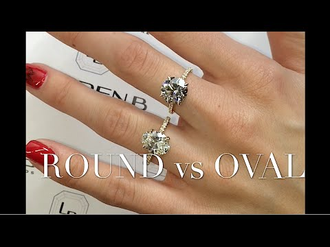 Round and Oval Diamond Engagement Ring Review
