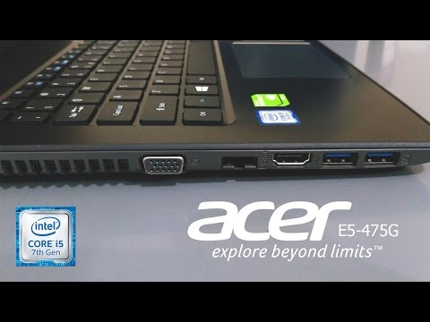 Quick Review Acer E5-475G intel 7th gen Kaby Lake + Gaming test ( Indonesia )