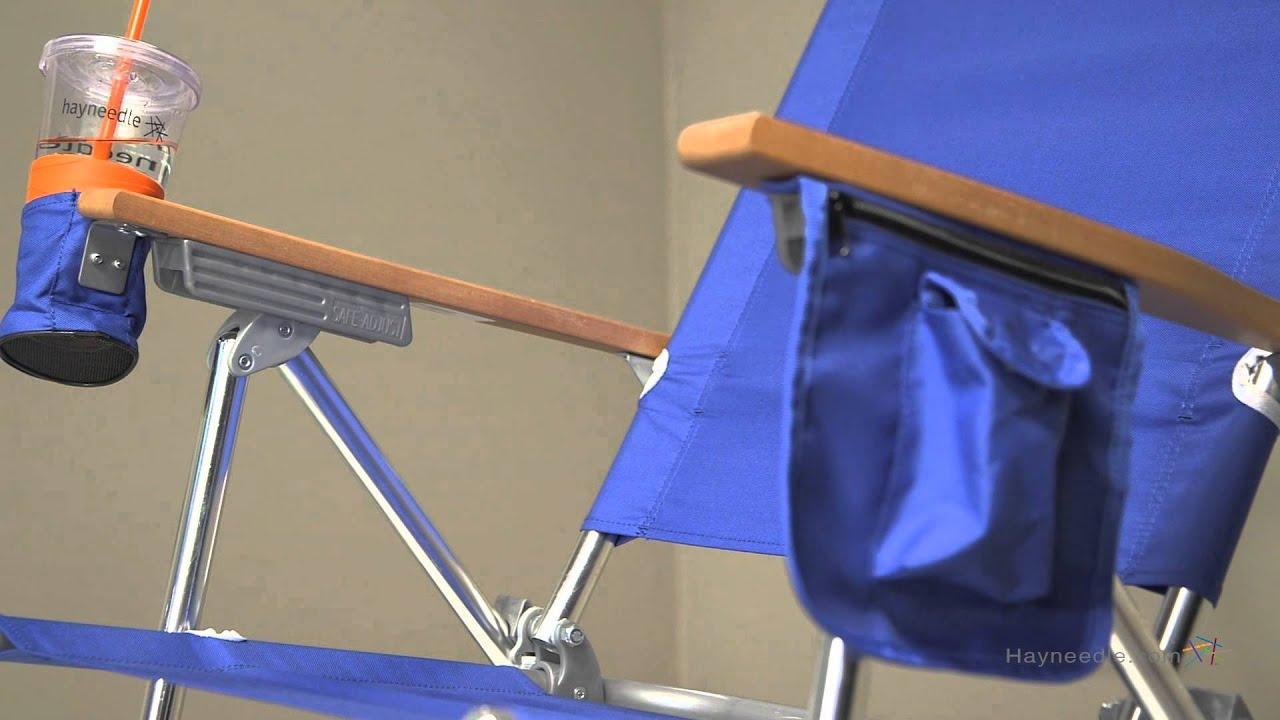 Rio Pacific Blue Hi Boy Beach Chair