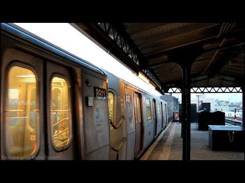 BMT Subway: Double R160 (N) Trains at Astoria Blvd