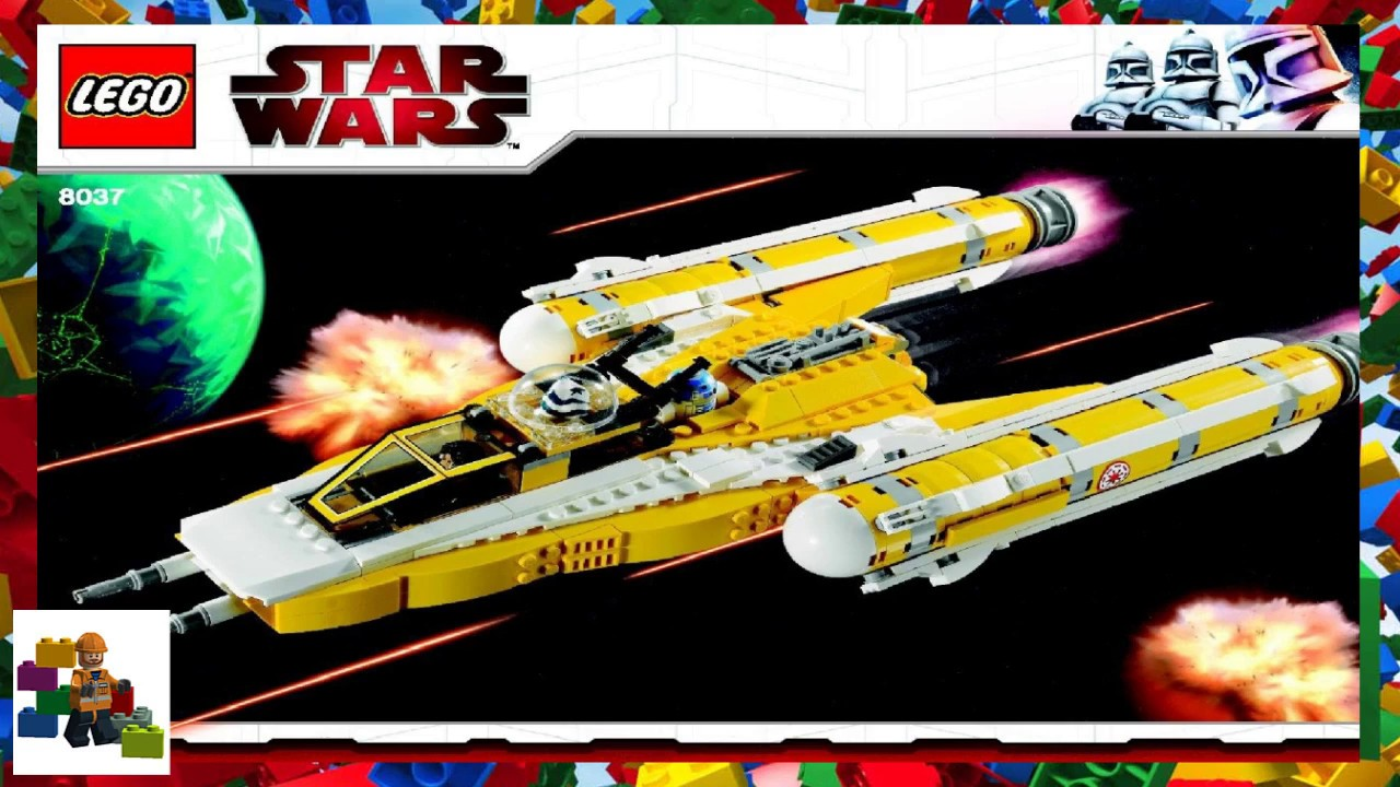 Lego Instructions Star Wars 8037 Anakins Y Wing Starfighter