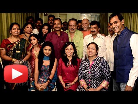 Marathi Actors Kishori Shahane, Yatin Karyekar & Anant Jog At Garbh Movie Muhurat