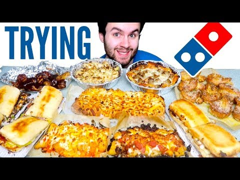 TRYING DOMINO'S NO PIZZA MENU! - Chicken Wings, Pasta, & MORE Restaurant Taste Test!