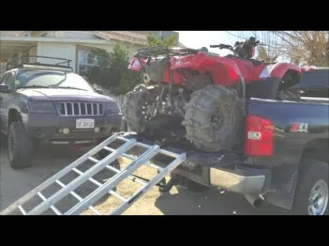THE EASY & SAFEST WAY TO  LOAD & SECURE YOUR ATV IN A  SHORT-BED TRUCK WITH A  TOOLBOX