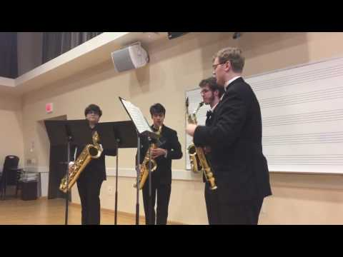 Sax Quartet from Steilacoom High School at Washington State Music competition