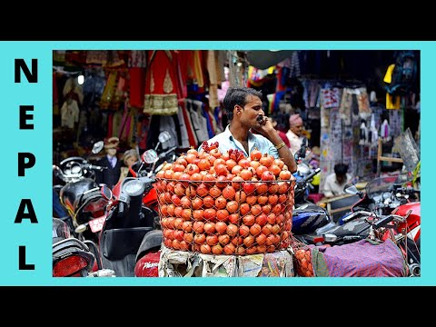 NEPAL, iconic ASAN TOLE MARKET and SQUARE in fascinating KATHMANDU