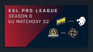 CS:GO: NaVi vs. North | GODSENT vs. NiP - Day 22 - ESL Pro League Season 6 - EU Main Stream