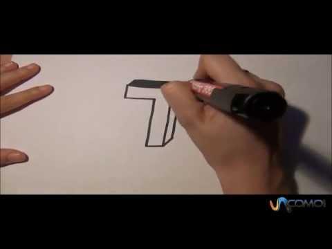 Dibujar la T en 3D - Draw the T in 3D