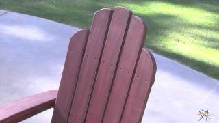 Cape Maye Weathered Adirondack Rocker - Barn Red - Product Review Video