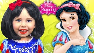 Kids Makeup Snow White Alisa Became a Princess- Disney Real Princess Dresses & Magic Transform