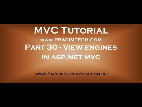 Part 30   View Engines In Asp Net Mvc