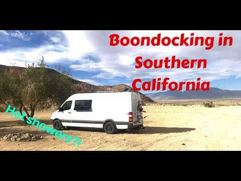 Free Camping In Southern California - With Pay Hot Showers In The Desert!