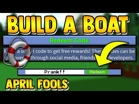 *NEW* APRIL FOOLS CODE!! | Build A Boat For Treasure ROBLOX (TROLL CODE)