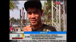 BT: Pinoy boxer Recky Dulay, panalo sa WBC Lightweight fight nang ma-knockout ang kalaban