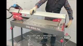 Máy cắt gạch, cắt đá bằng điện líp cạnh DW-250-NL