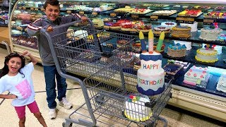 Shopping for Happy Birthday Party Cake & Toys