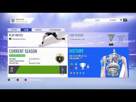 🔴 Pro Clubs Livestream | FIFA 19 [41-0-0] thumbnail