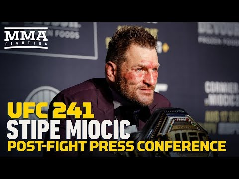 UFC 241: Stipe Miocic Post-Fight Press Conference - MMA Fighting