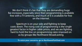 Charter Spectrum's Northwest Broadcasting dispute message (with audio)
