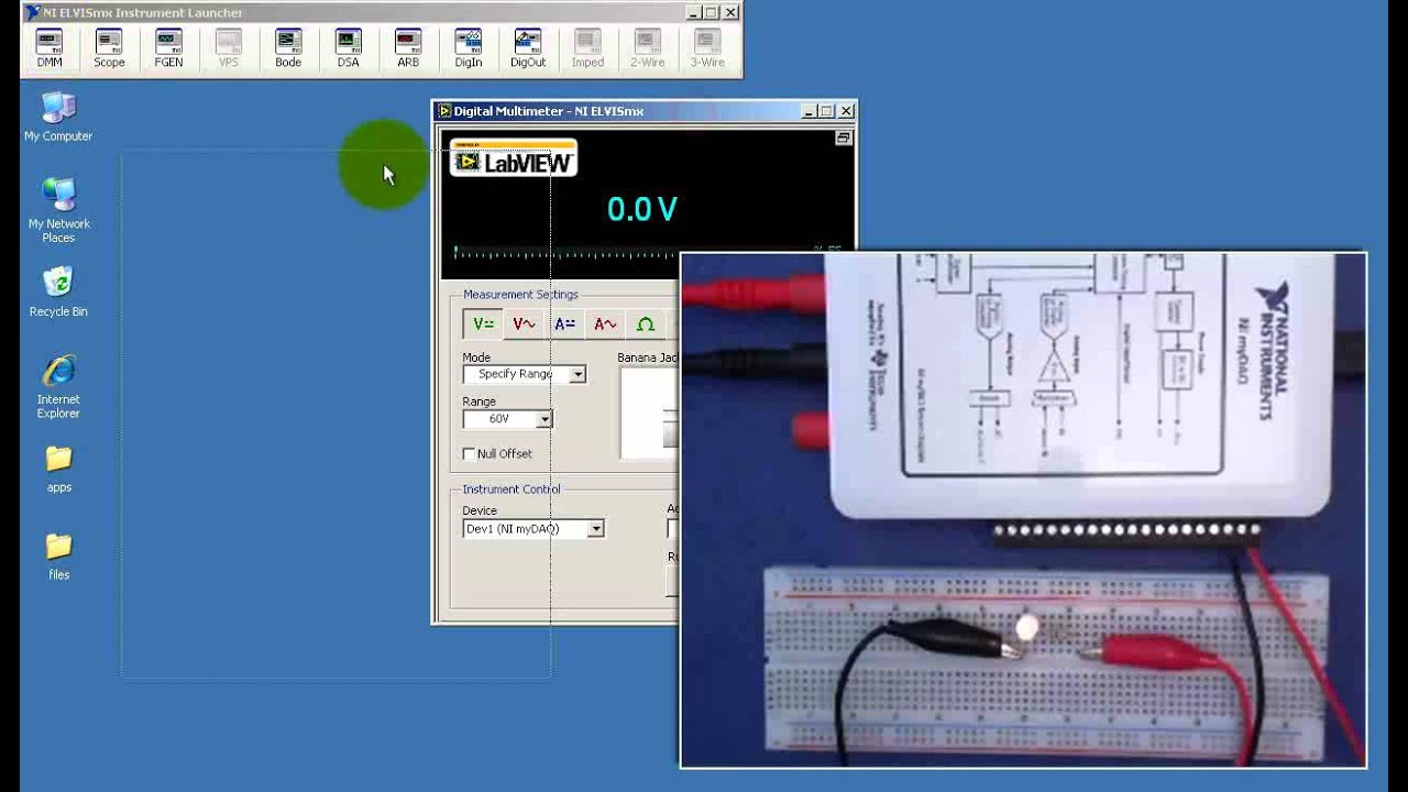 Ni Mydaq Measure Current With A Shunt Resistor And Dmm Voltmeter Cr7 Green Demo