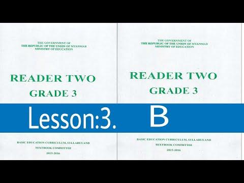 Lesson: 3.B Myanmar textbook grade 3 class 2 in Rohingya English Club.