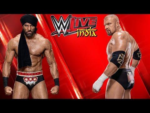 Jinder Mahal VS. Triple H - WWE India Liveshow New Delhi