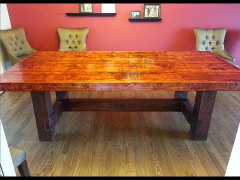 Homemade Dining Room Table Do It Yourself Dining Room Table  Youtube