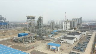 The world's largest copolymer polypropylene loop reactor hoisted in east China's Fuzhou