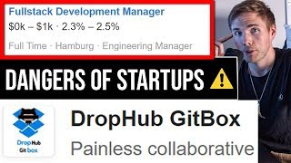 The DANGERS of Startup Companies | Jr. Developers #grindreel