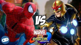 We play MARVEL VS CAPCOM INFINITE and battle with Spider-Man VS Nov...