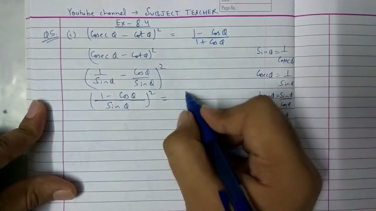Chapter 8 TRIGONOMETRY Exercise 8.4 (part 2) maths class 10 NCERT in ...