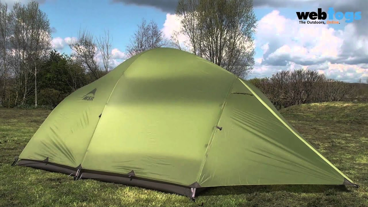 The MSR Holler 3 Person Tent - Durable backpacking 4 season tent. - YouTube & The MSR Holler 3 Person Tent - Durable backpacking 4 season tent ...