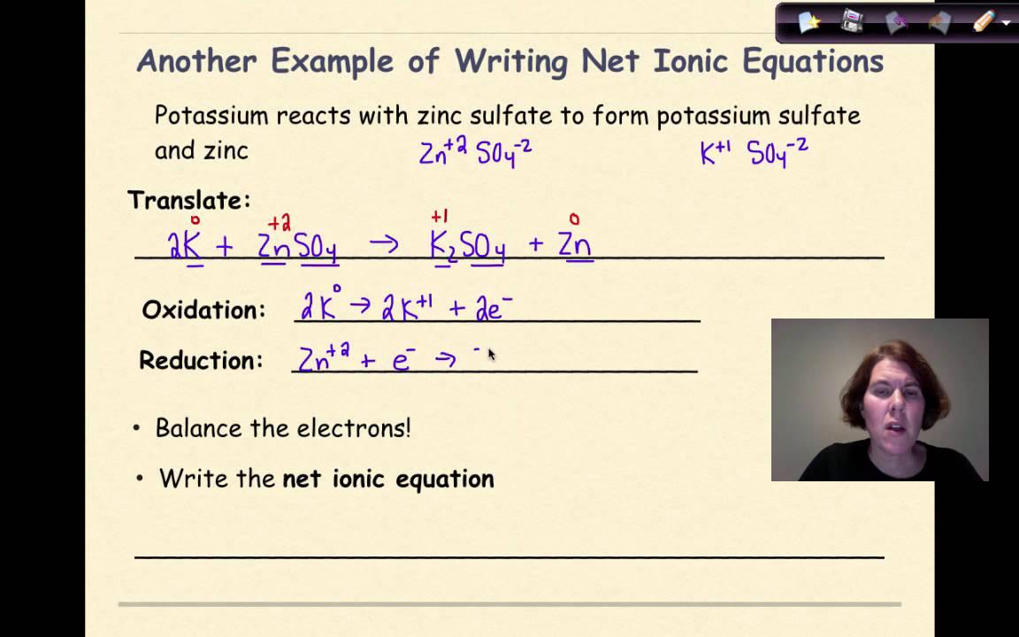 Redox Reactions Part 4 Writing Net Ionic Equations YouTube – Writing Net Ionic Equations Worksheet
