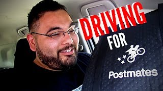 First day driving for Postmates