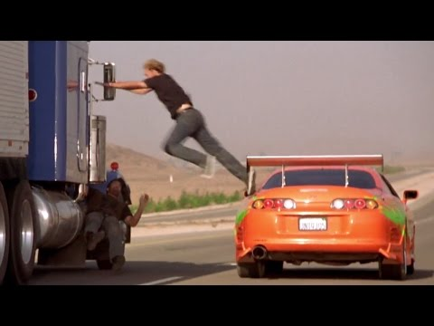 FAST and FURIOUS - Truck Chase (Civics & Supra vs Peterbilt)  #1080HD