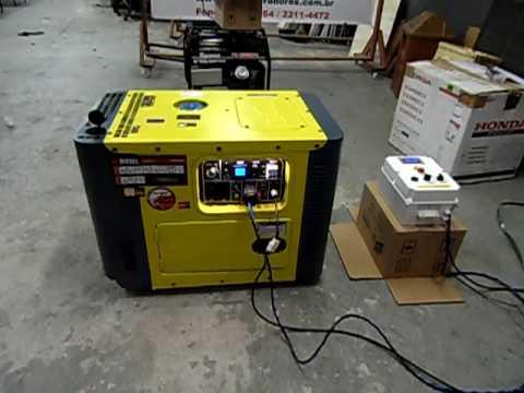 e8c7a7012d2 Grupo Gerador de Energia 8 KVA Silenciado Automatico - YouTube