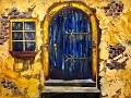 Download Old Blue Door  with Stucco beginners acrylic painting tutorial #bigartquest