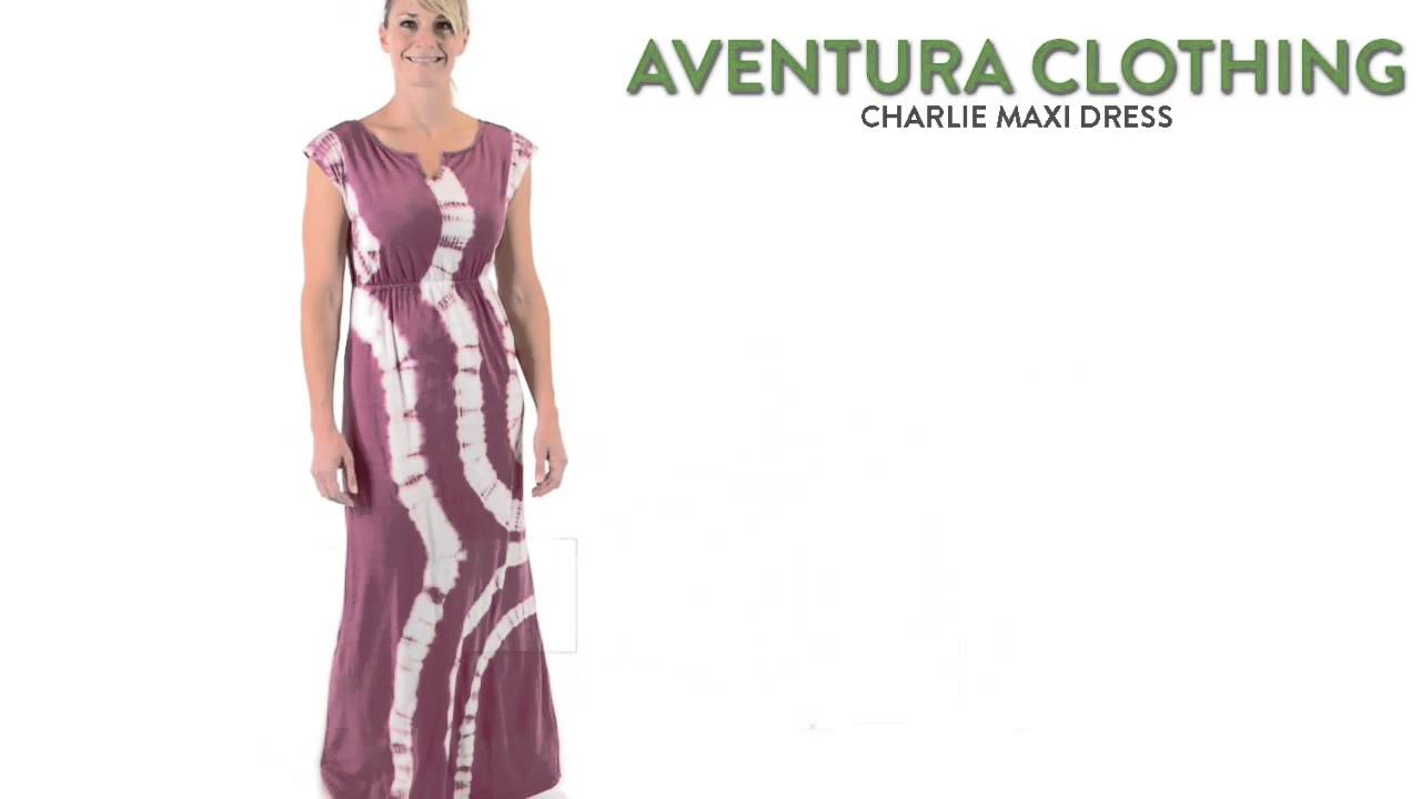 Aventura Clothing Charlize Maxi Dress Organic Cotton Modal Tie