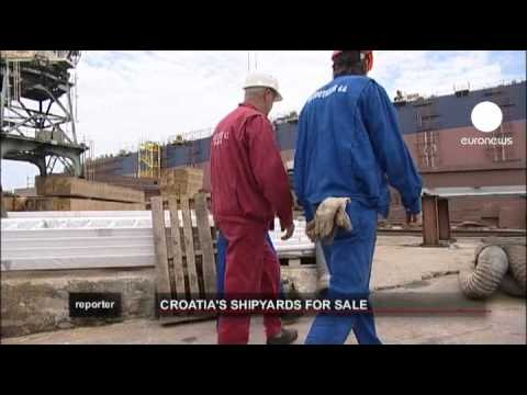 euronews reporter - Croatia's shipyards on sale