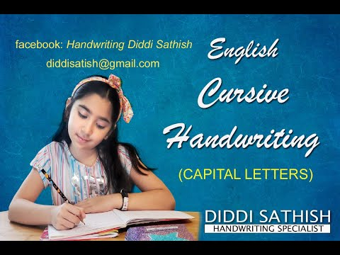 English Cursive Handwriting Capital Letters by DIDDI SATHISH - YouTube