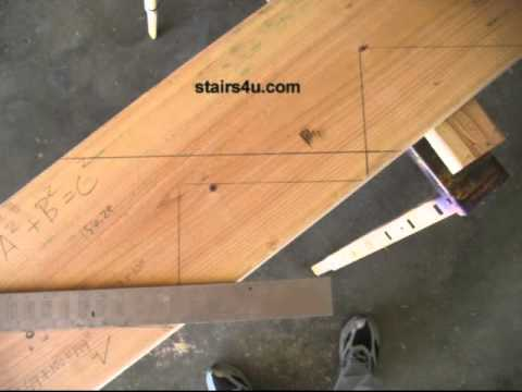 Stair Layout Framing Square Tip - Staircase Construction - YouTube