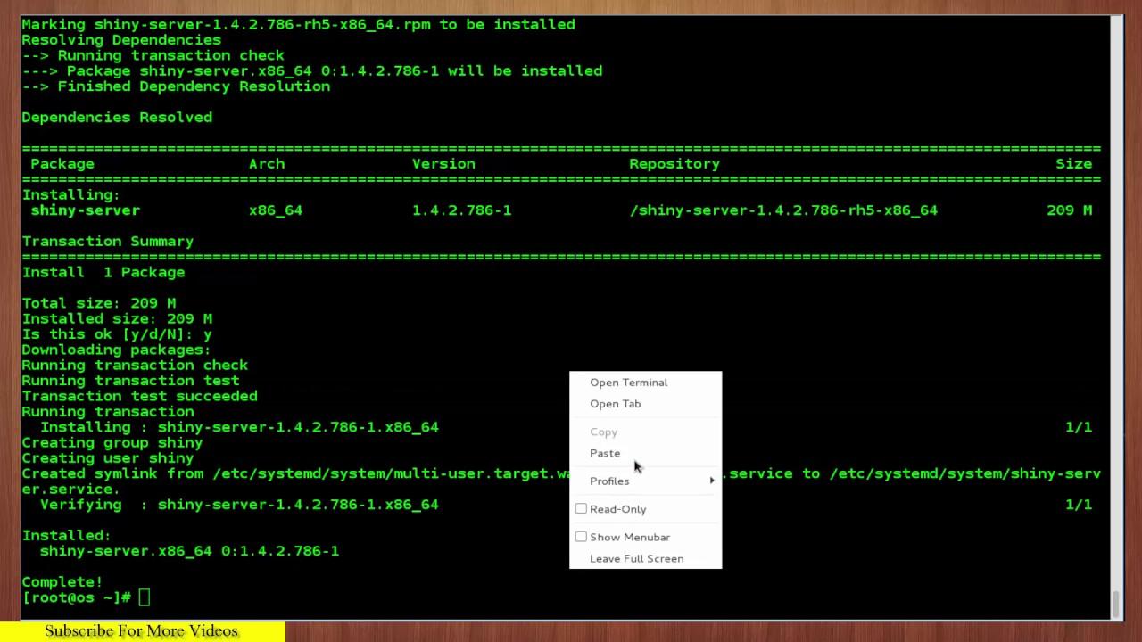 How to Install Shiny Server on CentOS 7