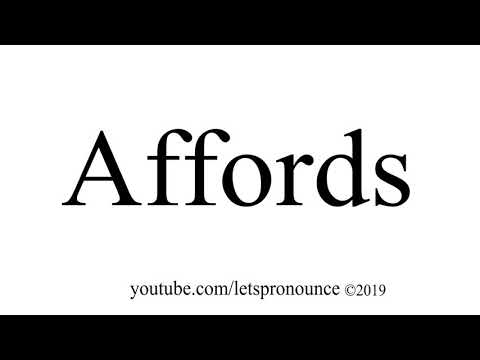How to Pronounce Affords