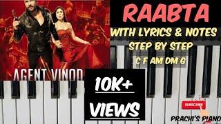 Raabta | kehte hai khuda ne iss | Agent Vinod | play on piano | step by step with notes видео