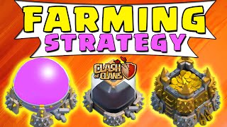Clash of Clans - SUB 200 FARMING STRATEGY! (Loot Farming Attack/Defense Strategy)