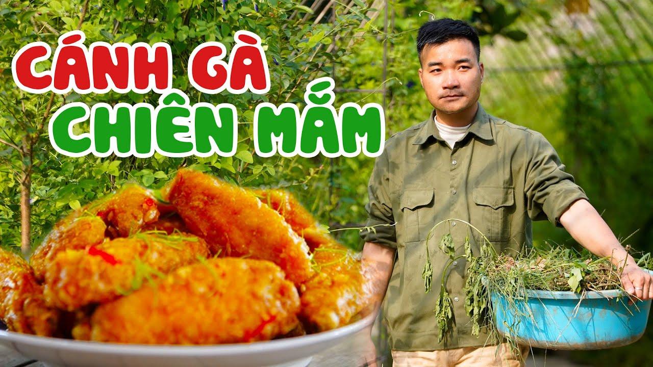 Download Anh Nông Dân Làm Món Cánh Gà Chiên Mắm Cho Bữa Cơm Chiều | Fried Chicken Wing Sauce